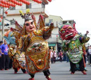 台湾の廟お祭り
