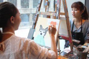 台北絵画体験