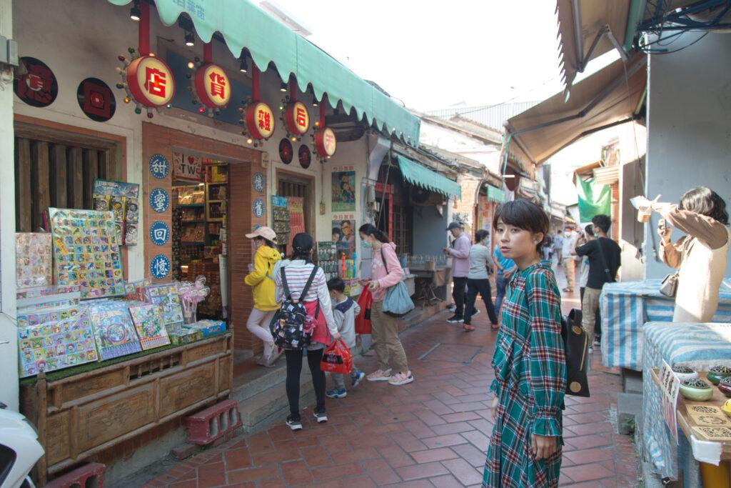 台湾老街美女